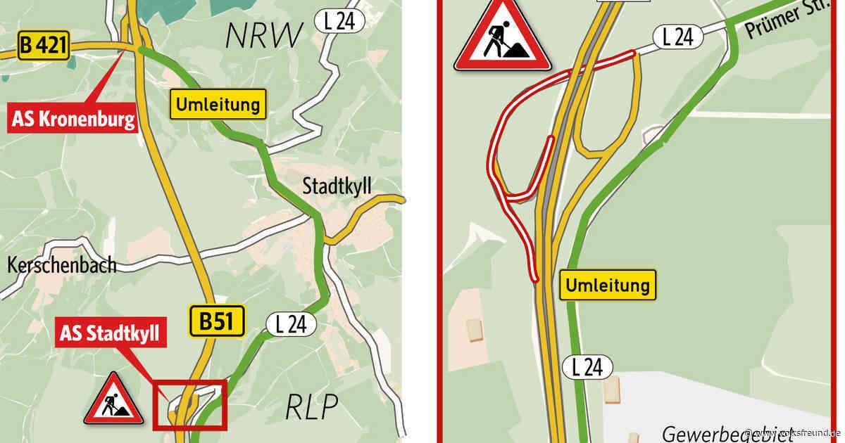 Bauarbeiten B 51 Anschlussstelle Stadtkyll und Nordrhein-Westfalen - Trierischer Volksfreund