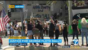 Hundreds protest in Newport Beach over death of George Floyd