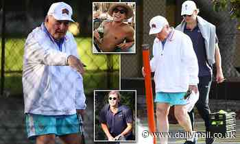 Alan Jones spends his morning tutoring Jake Thrupp in tennis after retiring from 2GB breakfast