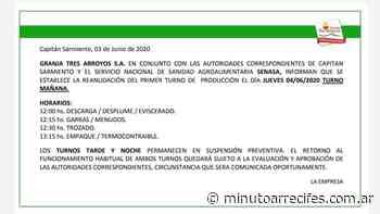 Granja Tres Arroyos reanuda sus actividades - MinutoArrecifes