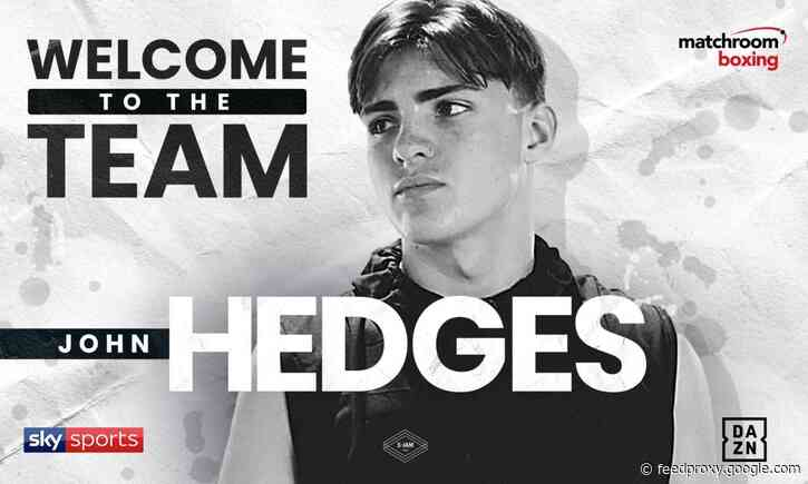 Matchroom Boxing signs John Hedges