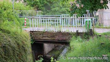 In Marienthal wird neue Bachbrücke gebaut - Radio Zwickau