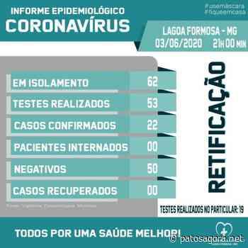 Casos de Covid-19 dobram pelo segundo dia consecutivo em Lagoa Formosa - Patos Agora