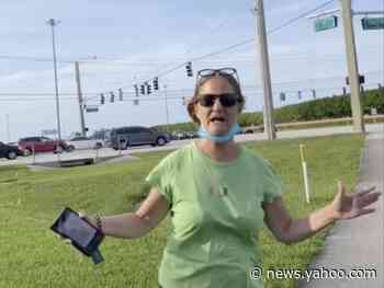 A Florida 'Karen' called the police on a solo Black Lives Matter protester standing completely alone on a street corner