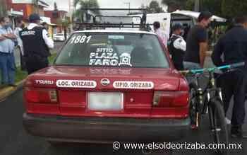 Muere motociclista tras chocar con taxista - El Sol de Orizaba
