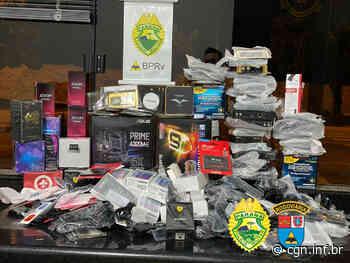 Em Cruzeiro do Oeste, BPRv apreende mais de R$ 100 mil em produtos contrabandeados - CGN