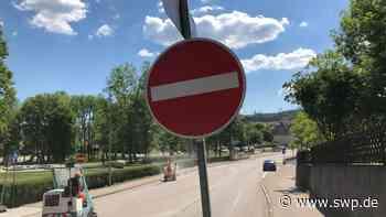 Schloss-Straße in Gaildorf: Sperrung erschwert Weg in die Stadt - SWP