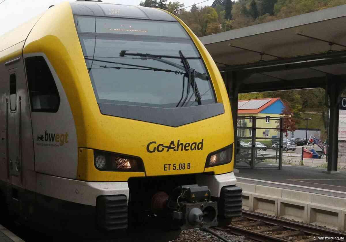 Remsbahn zwischen Gmünd und Schorndorf gesperrt - Rems-Zeitung