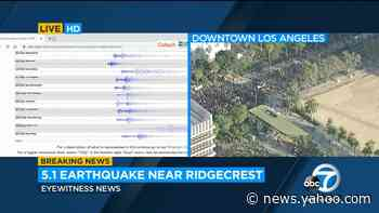 5.5 earthquake hits near Ridgecrest, USGS says