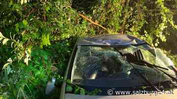 Oberndorf: Alkolenker flüchtet verletzt nach Unfall - SALZBURG24