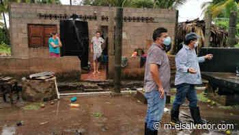 Viviendas dañadas y bocana obstruida en San Francisco Menéndez, Ahuachapán - elsalvador.com