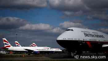 Coronavirus: British Airways owner burning '£178m of cash a week' - Sky News