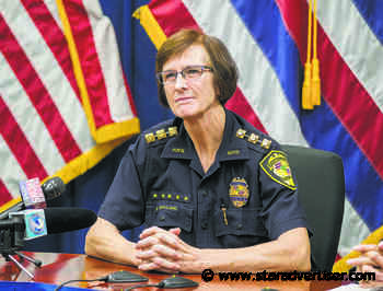 Police panel gives chief high marks, chides her on budget