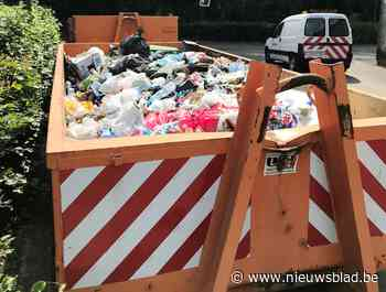 "Hele container vol zwerfvuil na één zonnig weekend in twee Wemmelse parken: ""Dit is ongezien"""