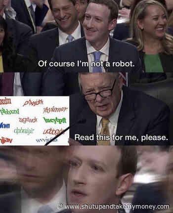Of Course I'm Not A Robot – Mark Zuckerberg Meme