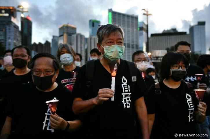 Hong Kong protesters defy Tiananmen vigil ban