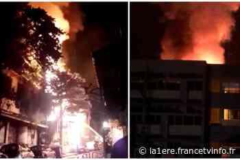 Un violent incendie en cours à la rue Peynier à Pointe-à-Pitre - Guadeloupe - La 1ère