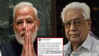 Prime Minister Narendra Modi mourns filmmaker Basu Chatterjee's death, writes, 'his work touched people's hearts'