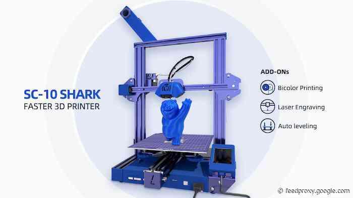 LOTMAXX SC-10 SHARK desktop 3D printer launching on Kickstarter