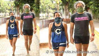 Milind Soman and wife Ankita Konwar enjoy their 'first run on Day 1 of unlock 1.0'