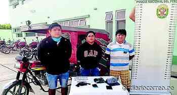 """Chulucanas: La Policía detiene a tres presuntos integrantes de """"Los Wirros"""" - Diario Correo"""