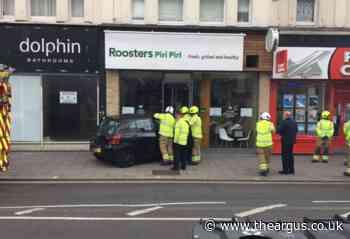 Car crashes into window of Piri Piri Chicken in Brighton