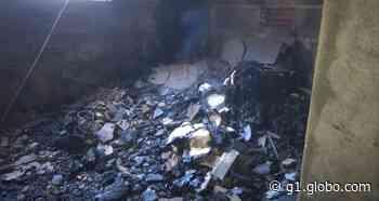 Incêndio em casa deixa uma pessoa ferida em Caratinga - G1