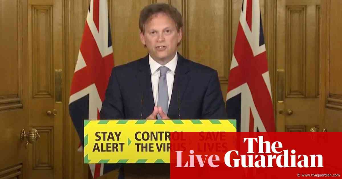 UK coronavirus live: Shapps announces face coverings will be compulsory on public transport in England