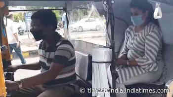Bhopal: Newly designed autorickshaw uses plastic cover to protect driver, passengers from coronavirus