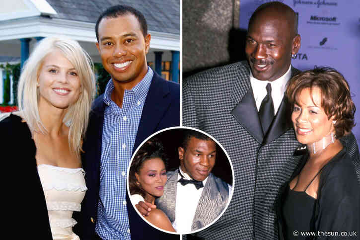 The most expensive divorces in sport, including pay offs for the ex-wives of Tiger Woods, Michael Jordan and Mike Tyson
