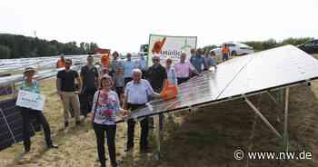 Diese Menge CO2 soll die neue Photovoltaik-Anlage in Kirchlengern einsparen - Neue Westfälische