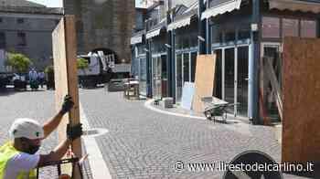 Piazza Merlin Rovigo, via alla demolizione del chiosco - il Resto del Carlino