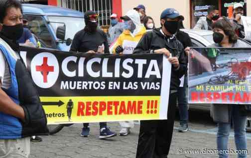 Ciclistas de élite Carchi exigen justicia por pedalista que murió atropellado