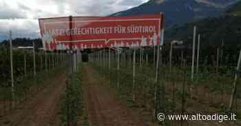 Striscioni anti-italiani a Sinigo - Merano - Alto Adige