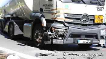 Kollision mit Laster: Biker nach B8-Unfall schwer verletzt - Nordbayern.de