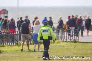 Coronavirus lockdown prompts Hove seafront protest - Brighton and Hove News