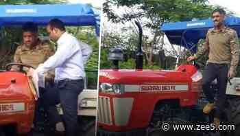 Lockdown Diaries: Mahendra Singh Dhoni Spotted Driving Tractor In Hometown Ranchi - Zee Kannada