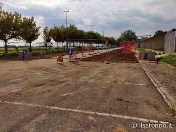 Solaro, cantiere nel parcheggio del centro sportivo, grazie ad un finanziamento europeo - ilSaronno