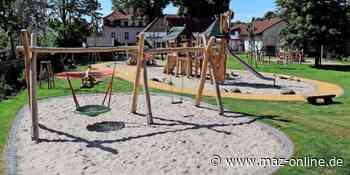 Kinder in Stahnsdorf - Neuer Kinder-Garten: Spielplatz für die Kita Spatzennest ist fertig - Märkische Allgemeine Zeitung