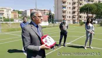 Isernia, quartiere San Lazzaro: consegnato defibrillatore al centro sportivo - Molise News 24