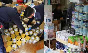 Police arrest two more Asians for shoplifting after seizing more than 200 tins of baby formula