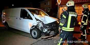Wustermark - Fahrer flüchtet nach Auffahrunfall - Märkische Allgemeine Zeitung
