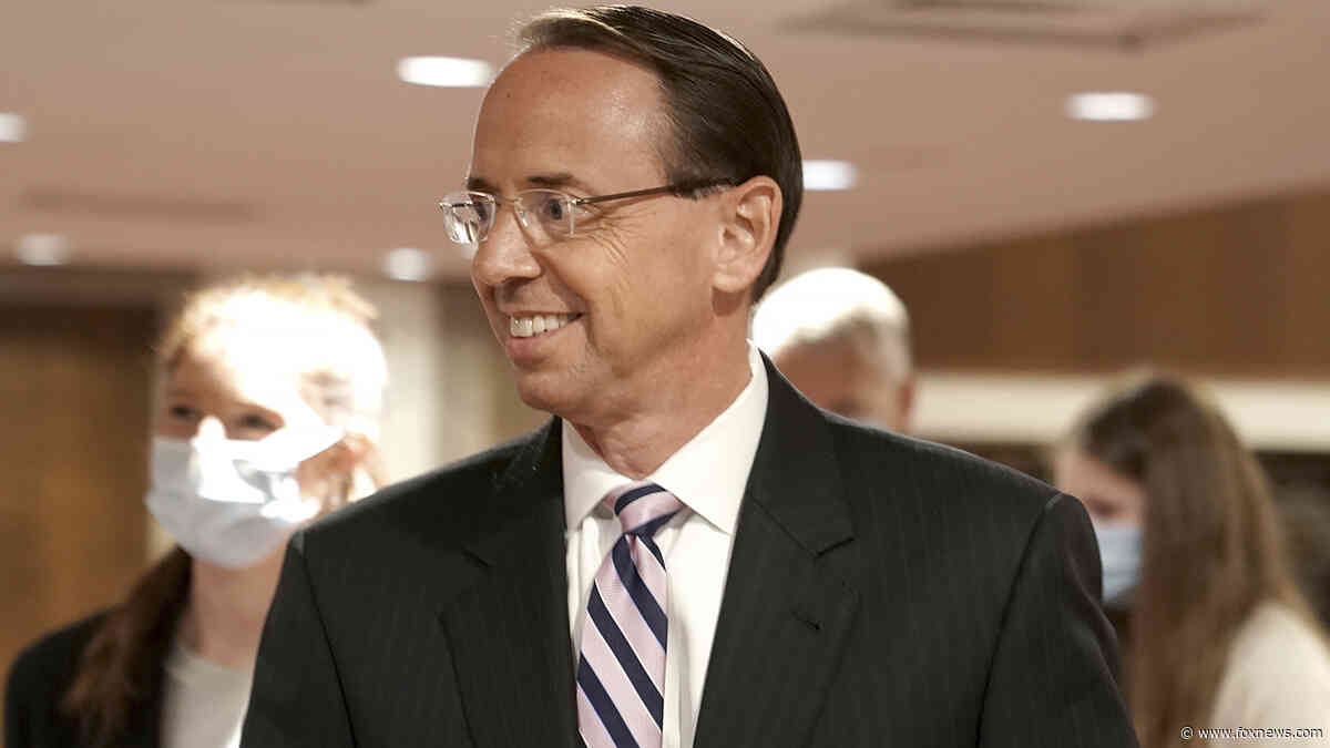 Rosenstein calls Durham appointment 'reasonable' in testimony on Russia case - Fox News