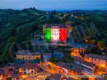 Illuminato con il tricolore il castello Gancia, simbolo di Canelli - http://gazzettadalba.it/