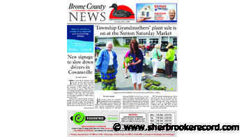 Brome County News - June 2, 2020 edition - Sherbrooke Record