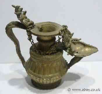 Jug Indian Bronze And Brass