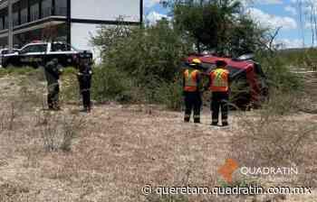 Vuelcan al ir a motel en Peñaflor - Quadratín Querétaro