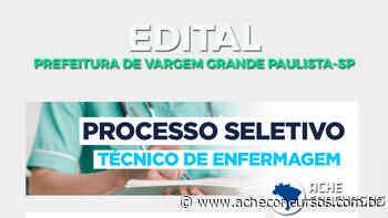 Prefeitura de Vargem Grande Paulista-SP lança edital para Técnico em Enfermagem - Ache Concursos