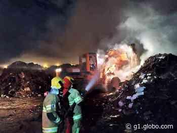 Depósito de materiais recicláveis pega fogo em Pouso Alegre, MG - G1