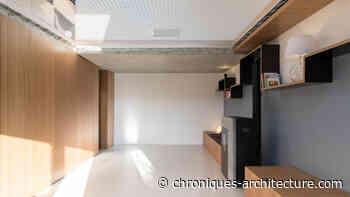 Jeu de pleins et vides », avec filet, à Courdimanche par Martins Afonso - Chroniques d'architecture